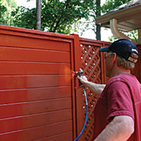Fence Painting - Painting - Rock Falls, Illinois